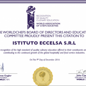 Istituto Eccelsa inserito nella World Association of Chefs' Societies